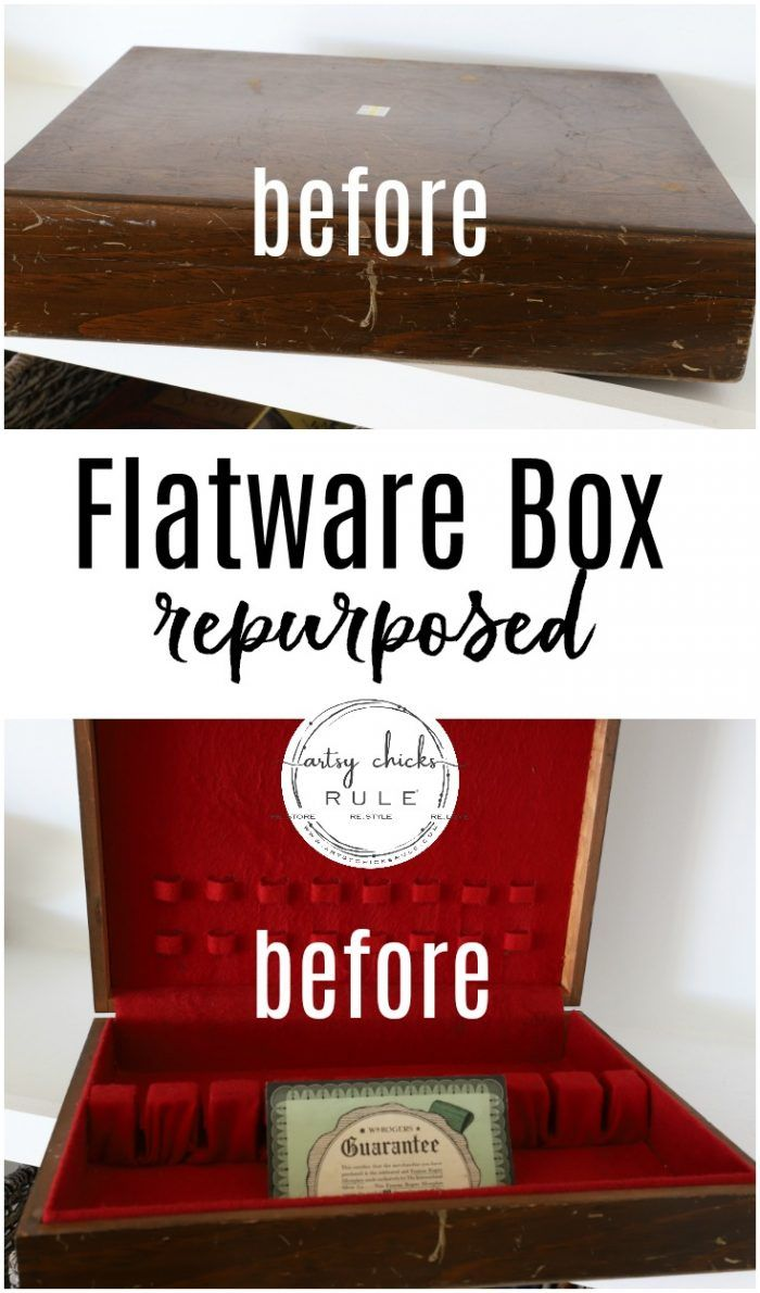 Flatware Box Turned Keepsake Box Artsy Chicks Rule Flatware Box Jewelry Box Makeover Keepsake Boxes