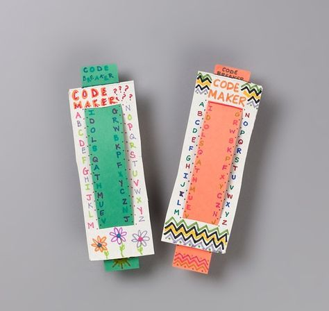 DIY Code Maker  Breaker by crayola #Codes #Kids #Cipher #crayola
