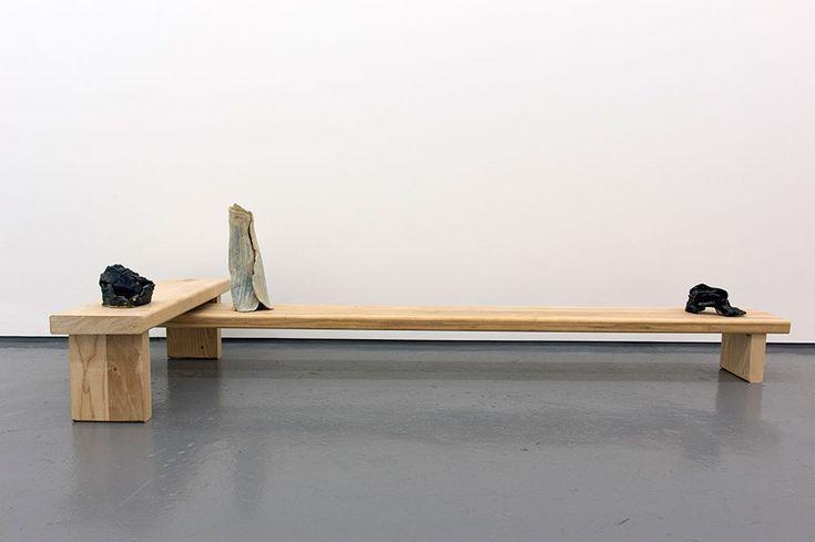 Christopher McSherry LEG RETAINER 2015 Ceramic, ash, timber 52 x 212 x 73.5 cm