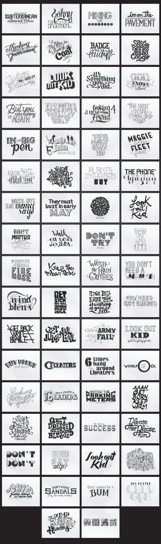 typografia bob dylan