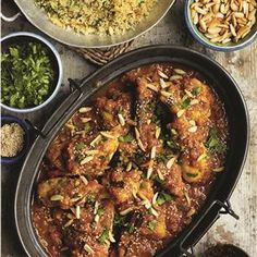 North African chicken with honey and saffron recipe. This North African chicken recipe uses a chicken jointed into 8 pieces and is perfect for special occasions.