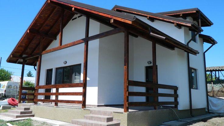 Constructii case lemn americane, la cheie -  prezentarea casei de la Izv...