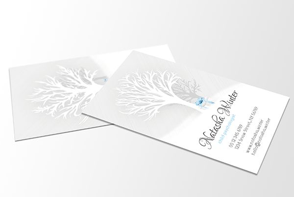The Winter Tree Theme - YTUNITY Double Viewpoint Business Card / Gift Card template by Drekinn