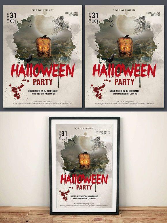The 25+ best Halloween party flyer ideas on Pinterest Halloween - halloween party flyer