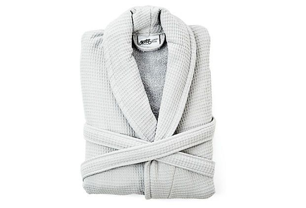 Luxury Waffle Terry Robe, Silver on OneKingsLane.com, $59
