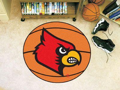 """Louisville Basketball Mat 27"""" diameter"""