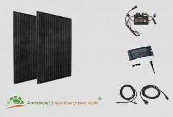 kit panneaux solaires pas cher jardin sans fix autoconsommation 500W