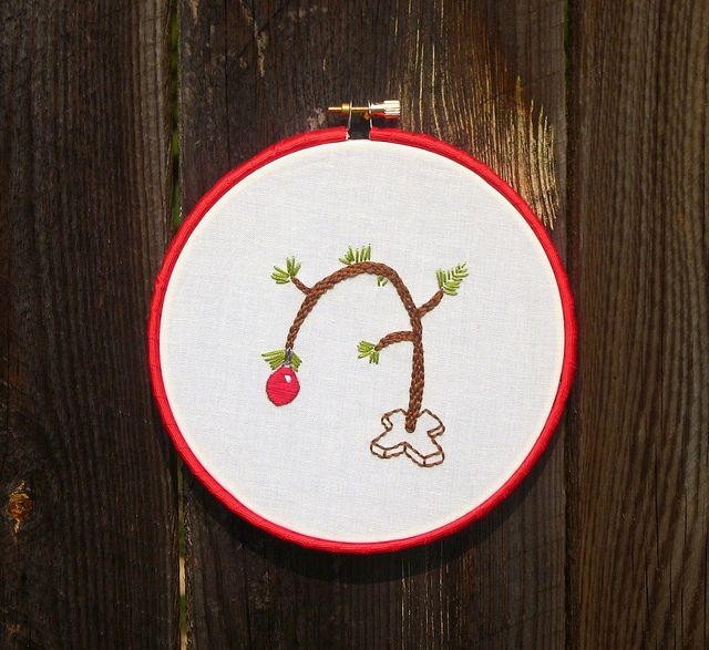Sew Technicolor A Free Christmas Embroidery Pattern For You Christmas Embroidery Charlie Brown Christmas Tree Christmas Embroidery Patterns