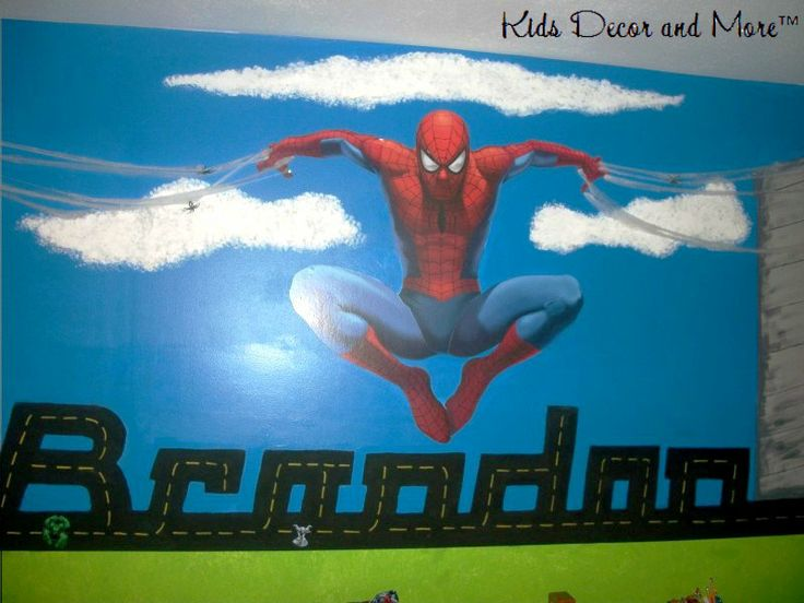 Spiderman Wall Mural 27 best wall murals images on pinterest | wall mural, boy bedrooms