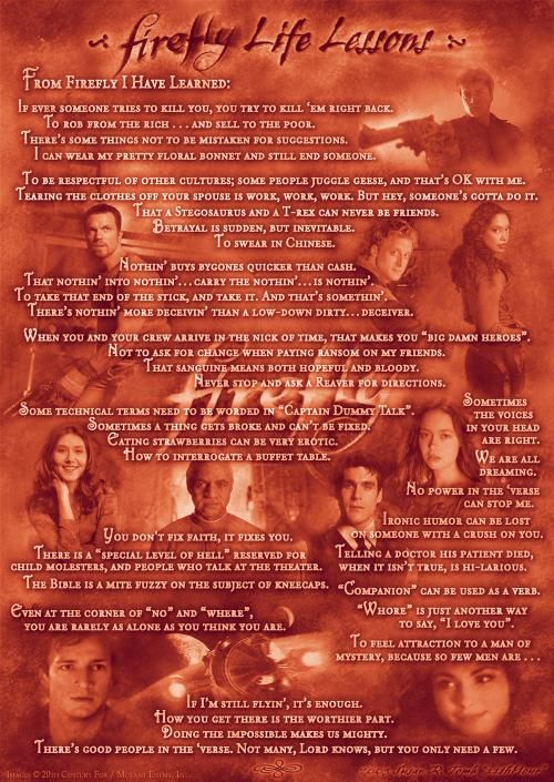 Firefly Life Lessons