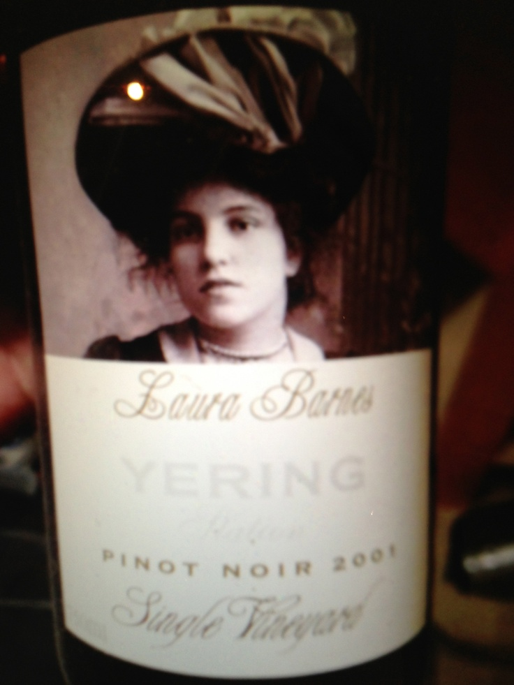 Laura Barnes Yering Station Pinot Noir 2001. Victoria, Australia
