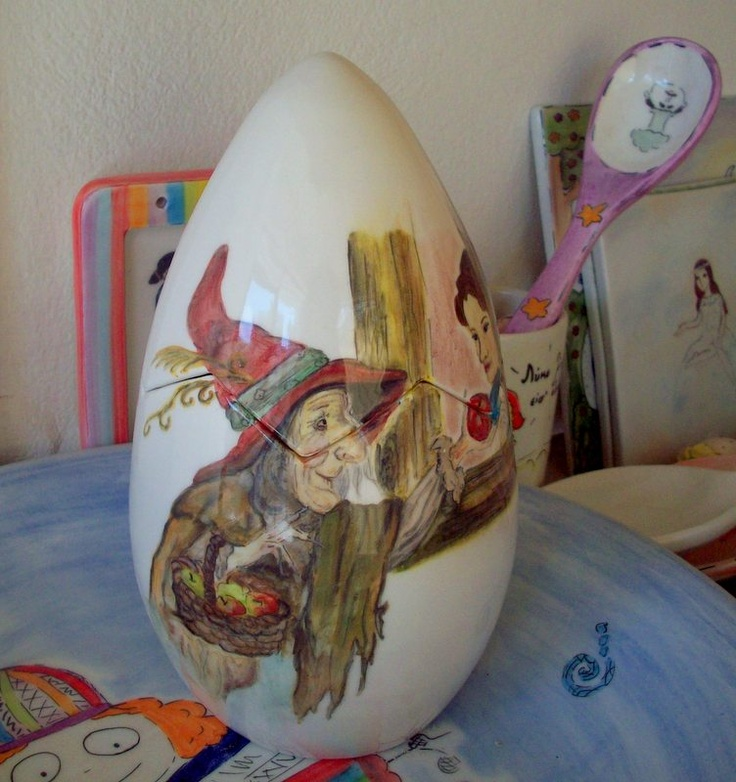 handmade ceramic egg
