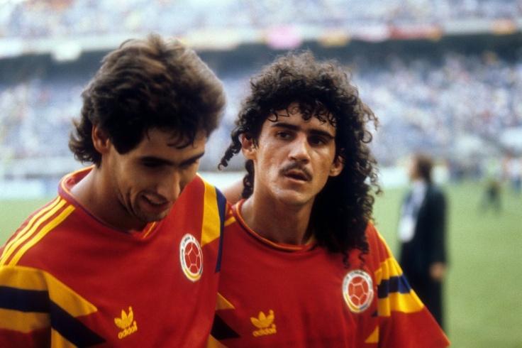 Andres Escobar y Leonel Alverez en Italia 90