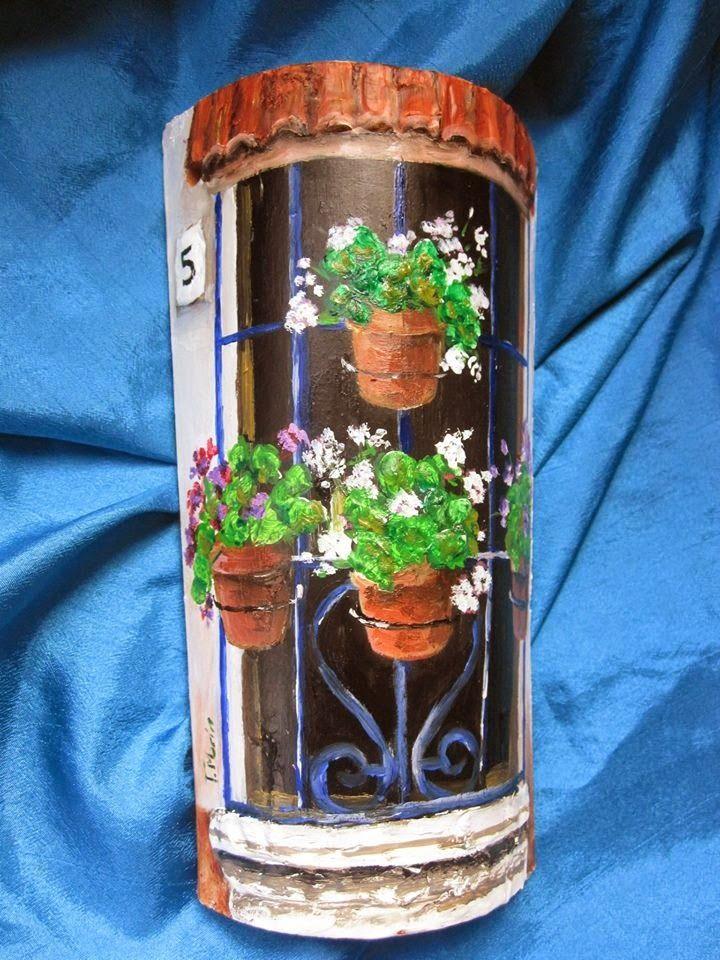 El Desván de Tonia: Tejas pintadas y decoradas a mano