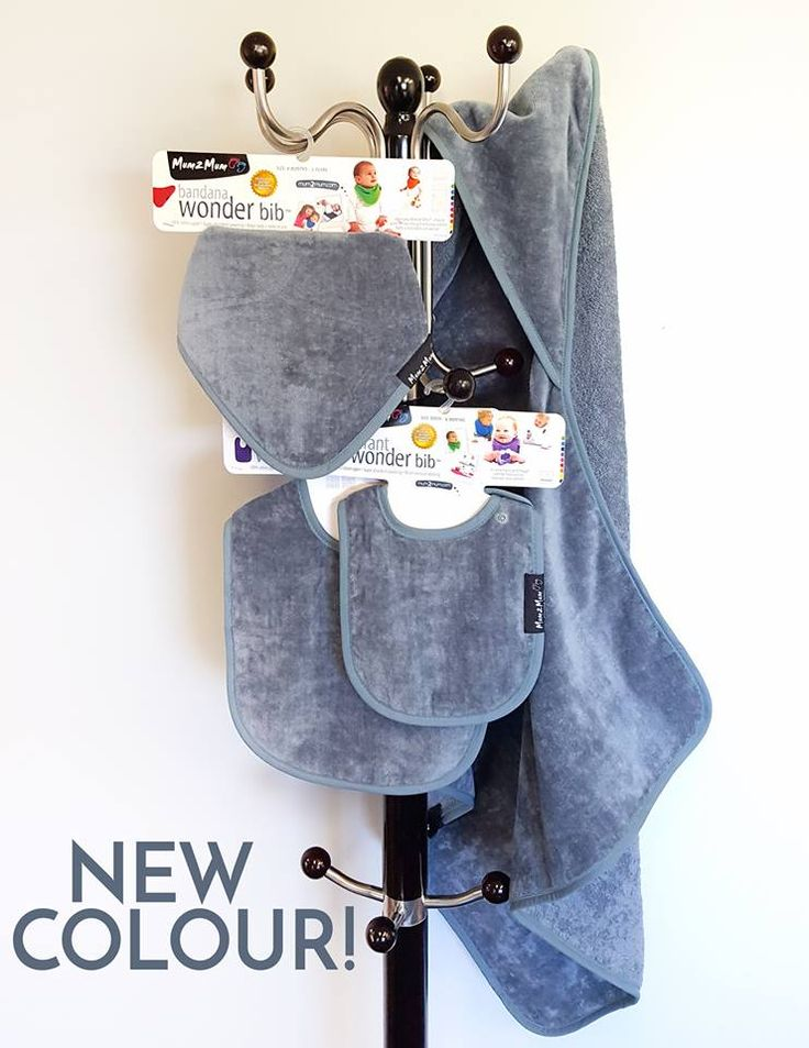 The NEWEST colour to the Mum 2 Mum range is... GREY! Available in Wonder Bibs and the Hooded Towel.  Shop online at www.mum2mum.com  #parenting #Mum2Mum #WonderBibs #Grey #NEW #bibs