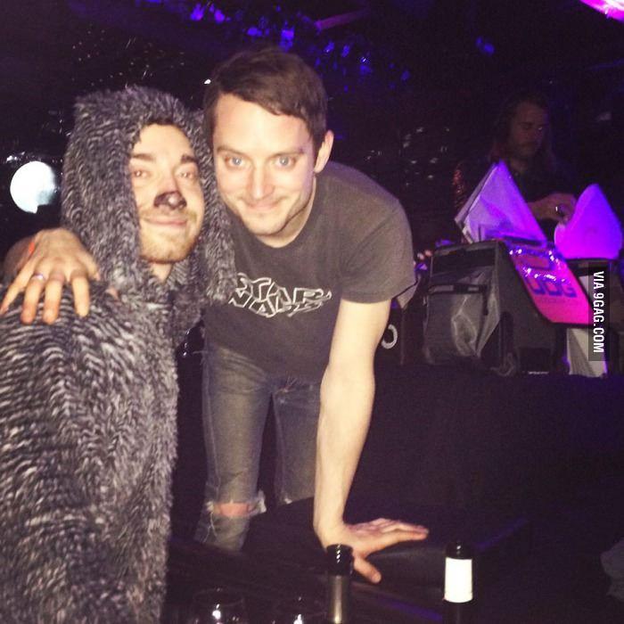 Went to see Elijah Wood DJ while dressed as Wilfred