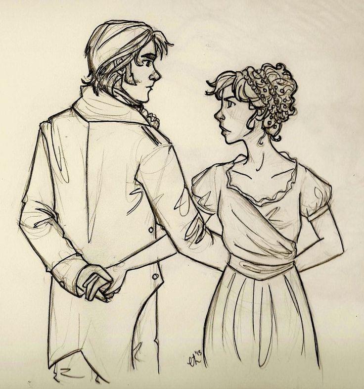 Pride and Prejudice / Elizabeth Bennet and Mr. Fitzwilliam Darcy / fan artwork / sketch