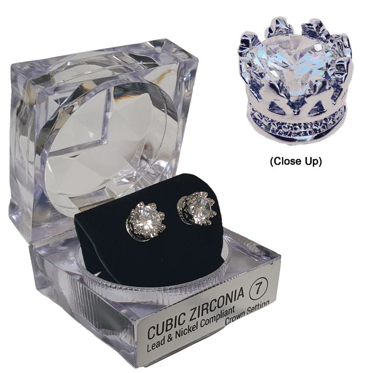 2713 Crown Earrings