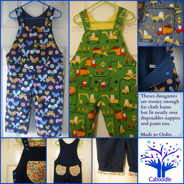 #caboodleclothing These baby and toddler #caboodledungarees are designed to have room for a #clothbum but also to look good over disposable nappies or pants too. Contact caboodlepropdesign@gmail.com to order yours custom make today