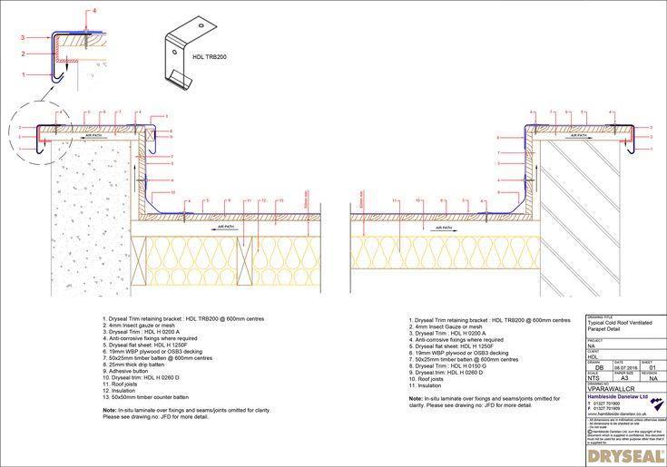 Ventilated Parapet Detail Cold Roof Parapet Roof Detail Roof Construction