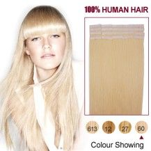 """Skeptical about that is it possible to iron or curl our extensions? The answer is """"YES"""". We provide tape in Hair extensions, with 0% synthetic or nylon mix, hence you can recolor, iron, curl, wave your extensions as much as you wish now on sale at huge discount. So hurry shop online now at hair extensions sale outlets and stores in FR."""