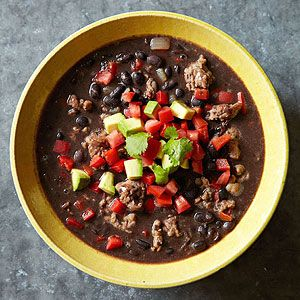 Black Bean and Sausage Stew. Had it for supper last night- easy, delicious, and slow-carb friendly. WIN!