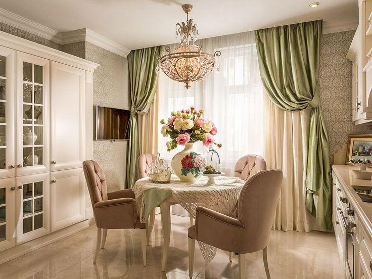 Шторы для кухни, особенно с балконной дверью, - очень важная деталь интерьера, которая придает помещению изысканности, свежести и домашнего уюта. Они все нуждается в тщательном подборе тканей, материалов, интересных дизайнерских решений. #интерьер #дизайн #шторы #пошив_штор #дизайн_штор
