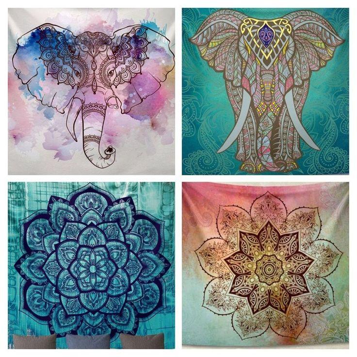 Bohemian Wandtuch Strandtuch Mandala Elefant  | eBay