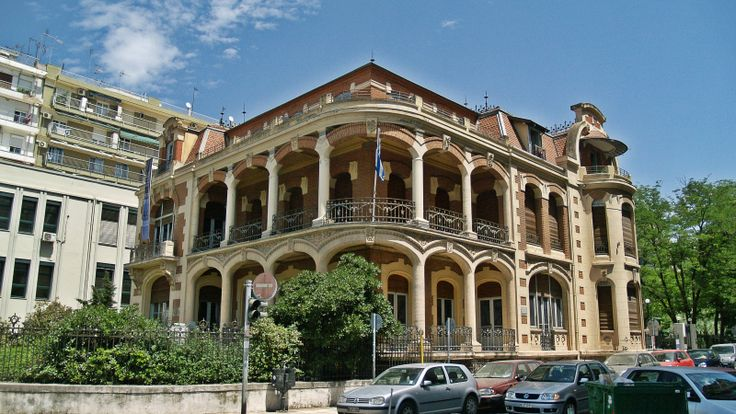 The Folklife & Ethnological Museum of Thessaloniki is housed on this beautiful 1906 residence of Jako Modiano. (Walking Thessaloniki - Route 15, Faliro)