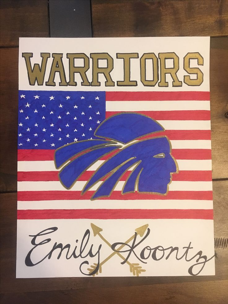 Warrior locker sign