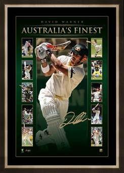 David Warner Signed Lithograph #cricket #CWC15 #Davidwarner http://www.sportsstarsandlegends.com.au/collections/cricket-memorabilia/products/australia-s-finest-david-warner-personally-signed-vertiramic