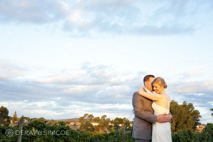 Romantic bride and groom at sunset. Wedding reception styling, ideas and inspiration. Reception Venue: Sittella Winery, Swan Valley WA Photography by DeRay & Simcoe