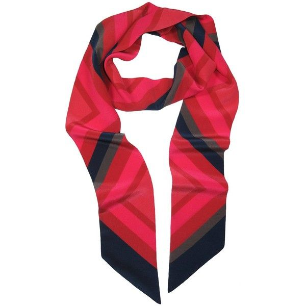 Conchita Lucas - Skinny Link Scarf (€91) ❤ liked on Polyvore featuring accessories, scarves, chevron print scarves, square scarves, star scarves, chevron scarves and folding scarves