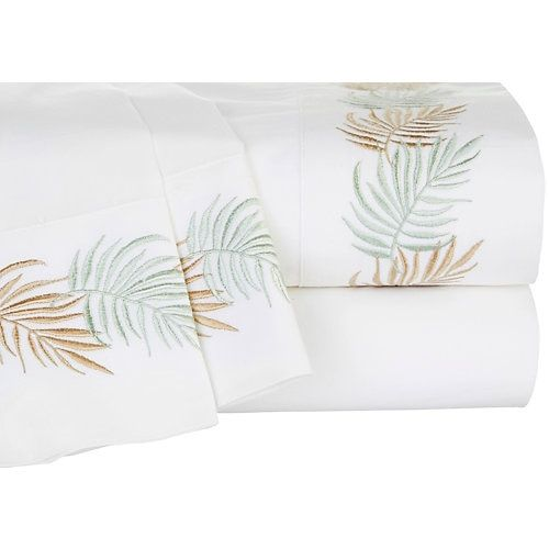 Pick up a piece of the Panama Jack lifestyle and relax into your favorite time and place. This percale cotton sheet set features a 200 thread count and ...