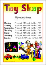 Toy shop role-play pack (SB377) - SparkleBox