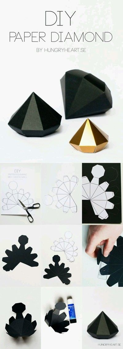 Diy paper diamond