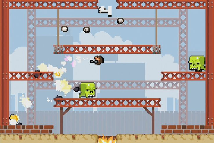 Super Crate Box is a multi-platform, freeware, score-based, arcade MMO Game made by indie development studio Vlambeer