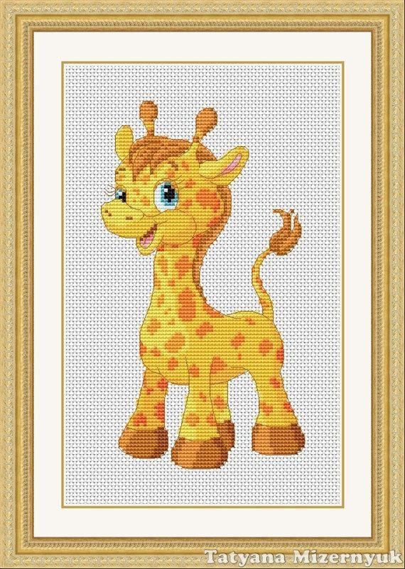 Cross stitch pattern Little giraffe от TatyanamStitch на Etsy