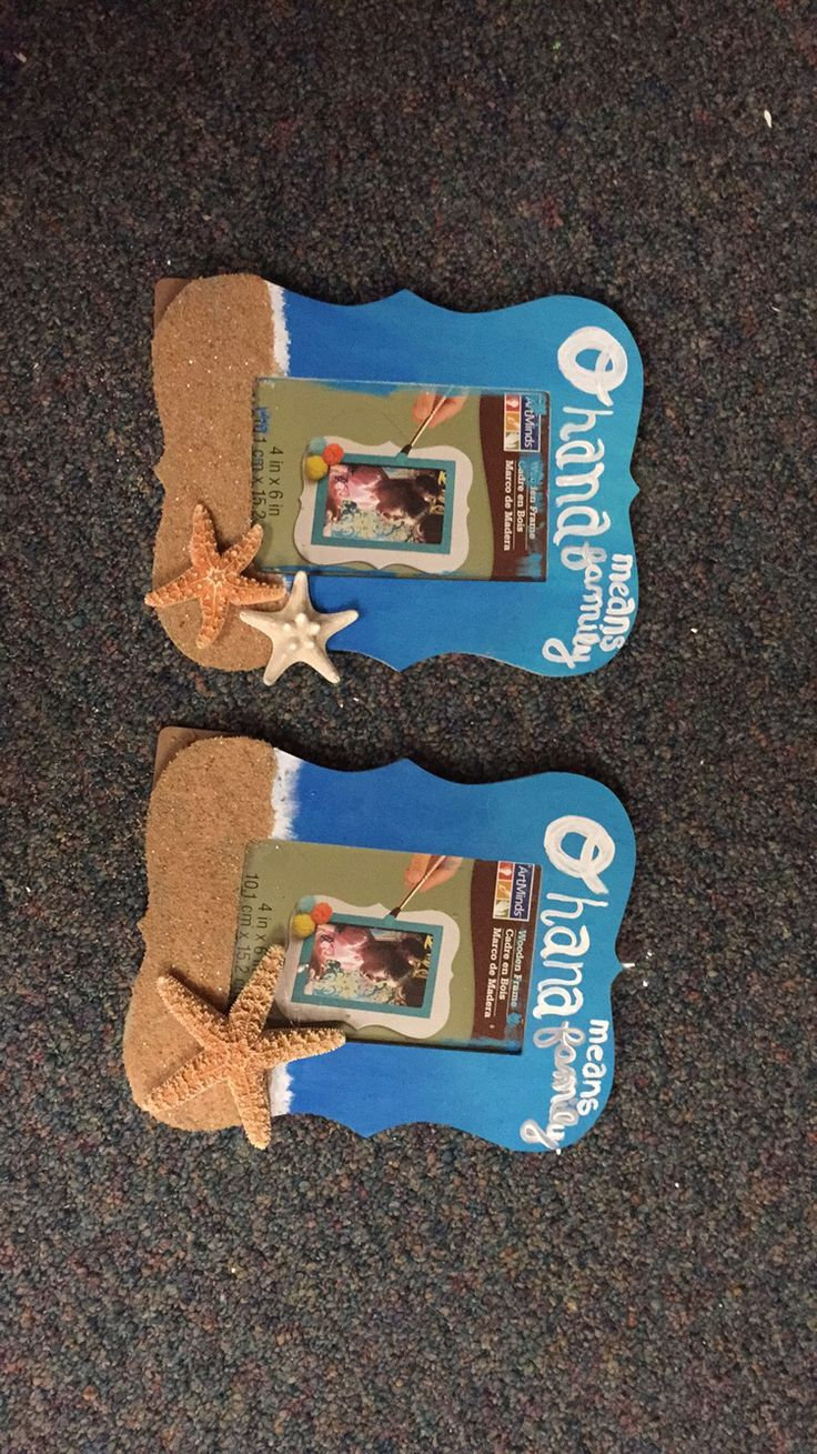 ohana means family sorority picture frame alpha gamma delta agd beach theme starfish sand blue water