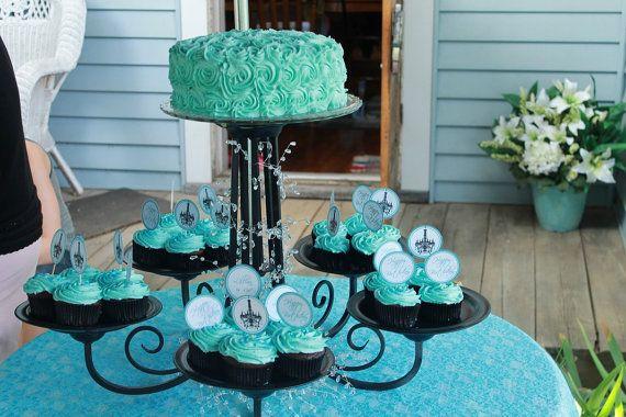 Designer Chandelier Cupcake/Cake Serving Stand by Cinnamonrays, $150.00