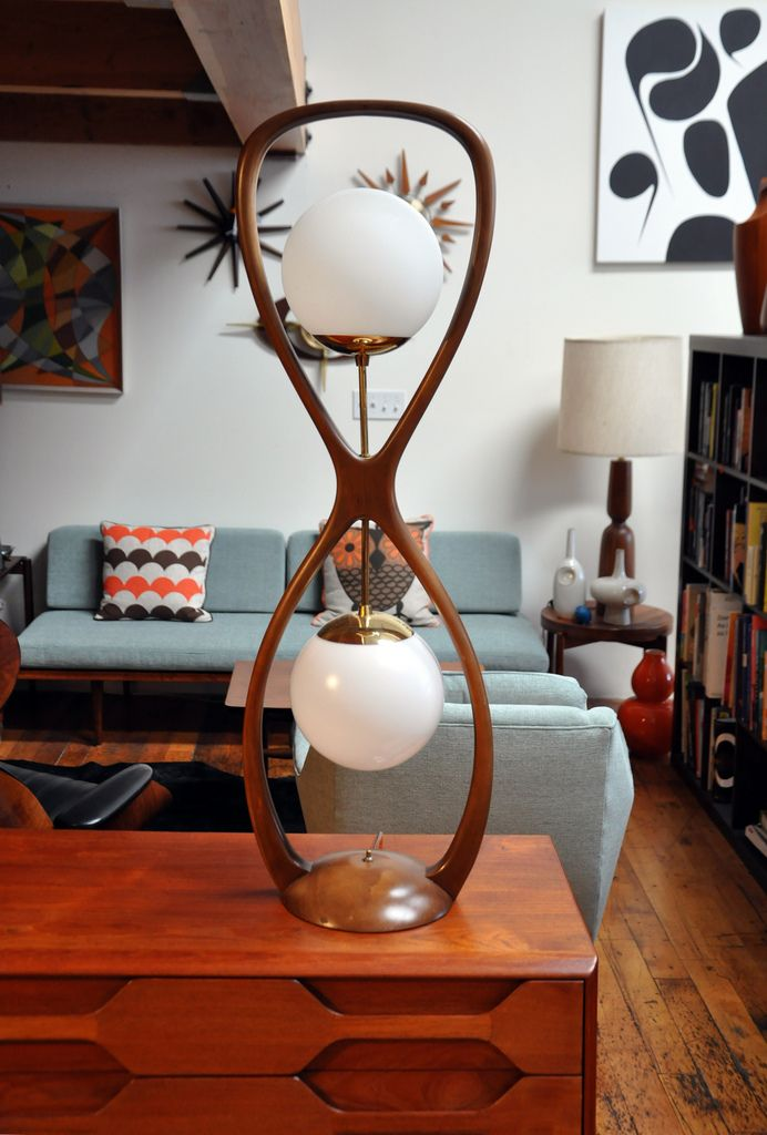Nice Mid Century Modern Danish Teak Lamp   Reminiscent Of An Hour Glass   Would  Be Cool In Silver With White Or The Blue Lanterns Amazing Pictures