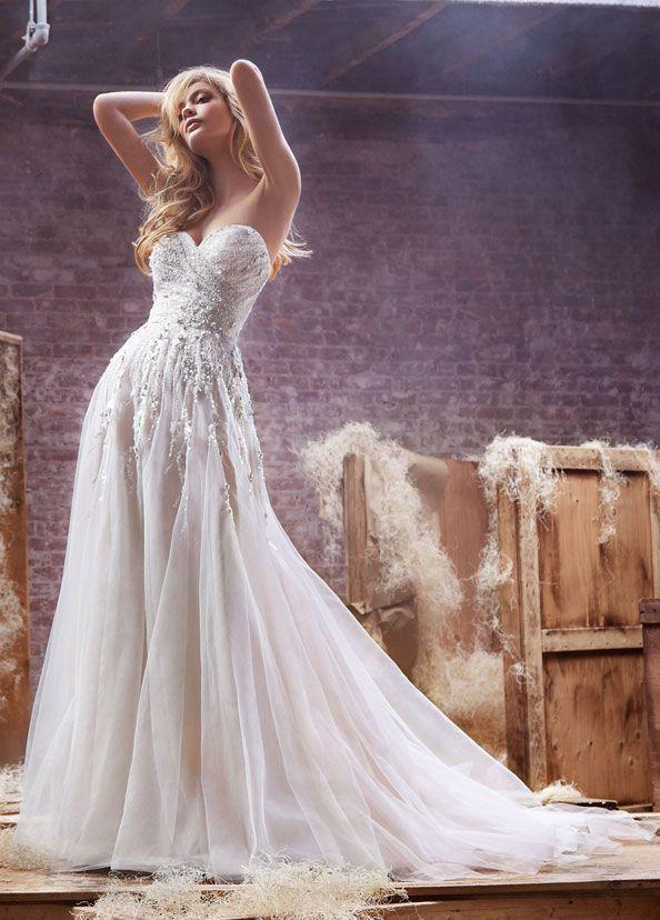 166 best Wedding Dresses images on Pinterest | Bridal fashion ...