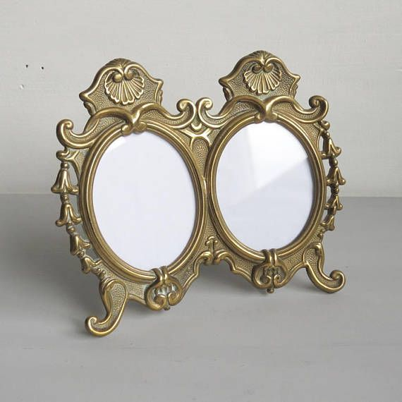 And oral vintage brass frame women
