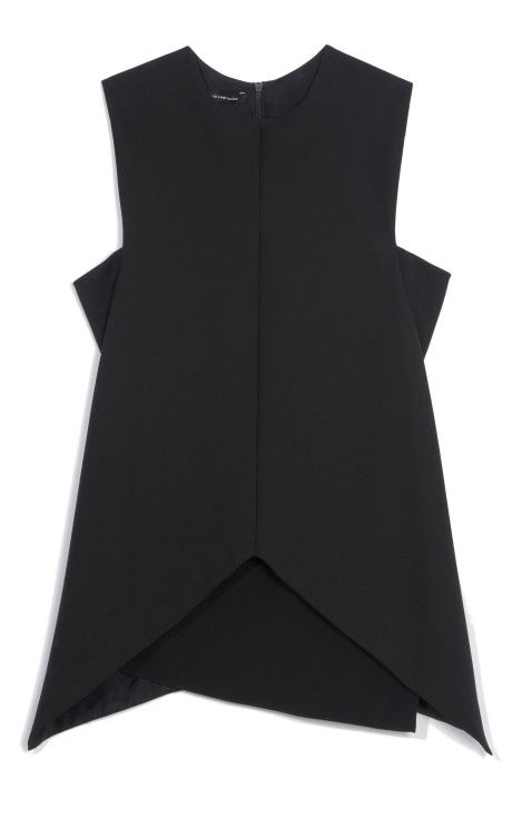 Black Stretch Wool Twill Top by Narciso Rodriguez