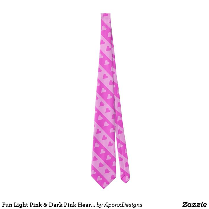 Fun Light Pink & Dark Pink Heart Stripes Pattern