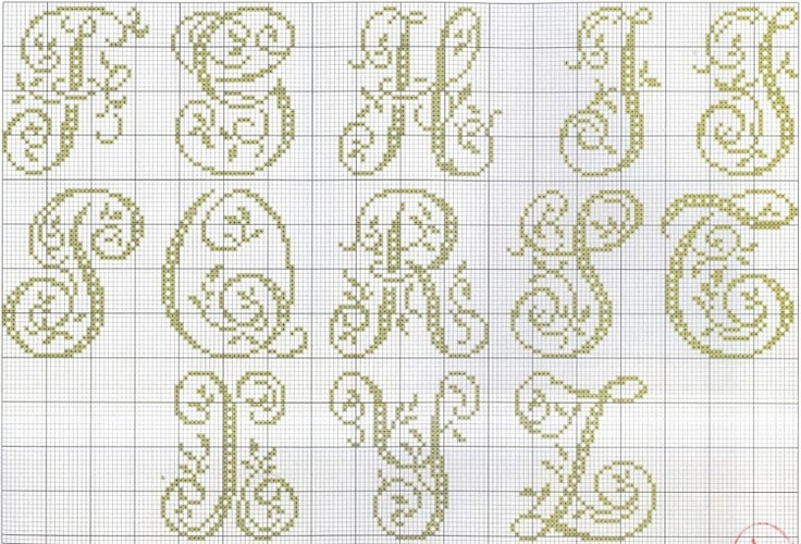 #alphabet #monogram #cross-stitch | Part 2/3