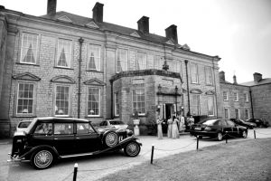 wedding-car-front-of-house