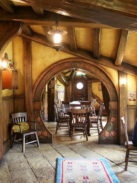 369 best middle earth inspired decor images on pinterest for Hobbit house furniture