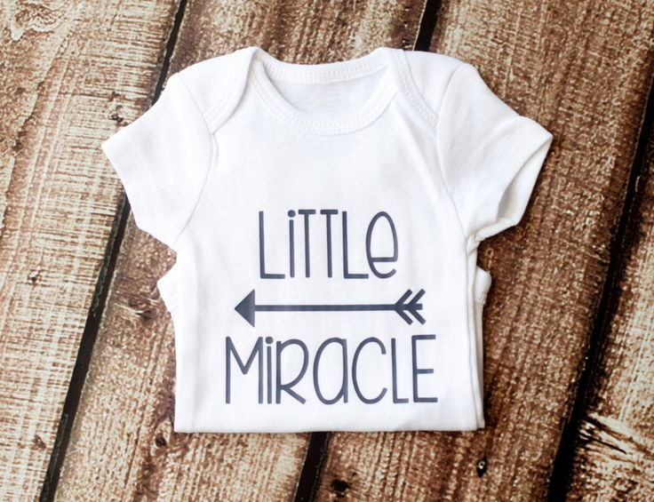 Little Miracle, Onesie, Miracle Baby, Newborn Miracle, Baby Girl, Baby Boy, Rainbow Baby, Girl Shirt, Glitter Shirt, Preemie, NICU, by littleandgorgeous on Etsy https://www.etsy.com/listing/241500392/little-miracle-onesie-miracle-baby