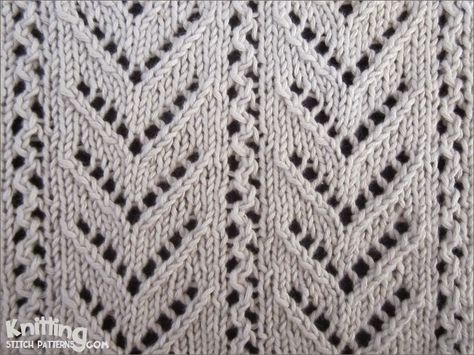 Chevron Lace Stitch Pattern